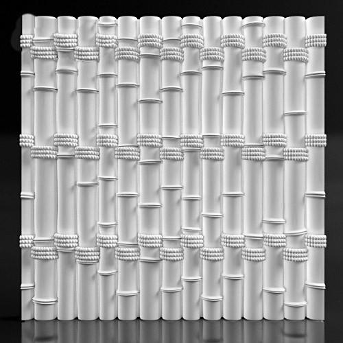 3d панель из гипса Bamboo