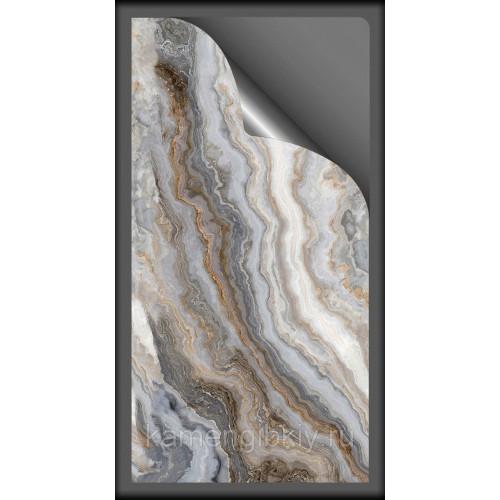 Гибкий мрамор Cloudy Grey размером 280х140 см