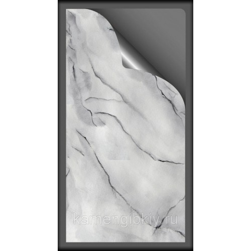 Гибкий мрамор Cristal White размером 280х140 см